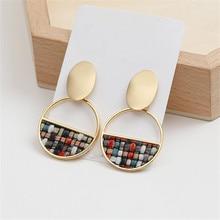Fashion popular metal earrings  geometric retro earrings personality fashion earrings Simple and colorful fashionable women