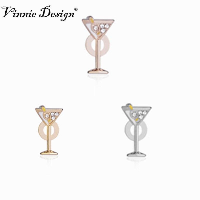 Vinnie Design Jewelry Pave Silver Martini Slide Charms fit on Keepers Bracelets Keys for Wrap Bracelet 10pcs/lot