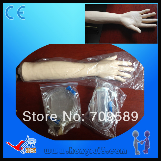 Medical Training Model, Human Venipuncture Training Arm economic injectable training arm model with infusion stand iv arm injection teaching model