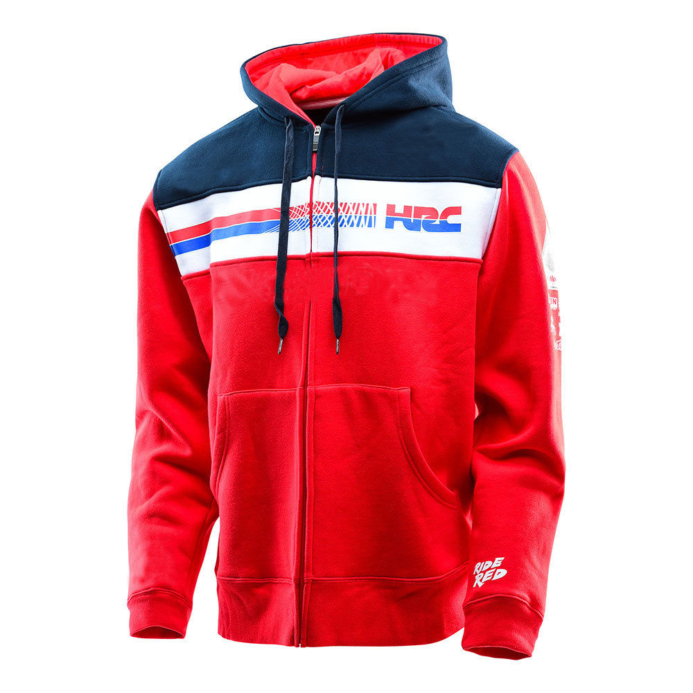 Free shipping 2018 Knight Winter Moto GP Rossi For Honda CBR Zip Sweat Fleece Sweater