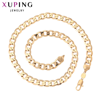 11.11 Xuping Fashion Necklace New Design Big Long Necklace Gold Color Plated Necklace Women Men Chain Jewelry Top Sale 42212 Ожерелье