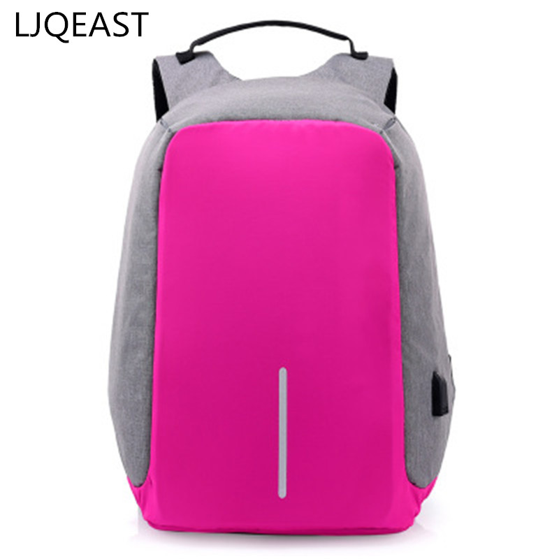 LJQEAST Men Backpack Anti Theft With Usb Charger Laptop ba pack Business Unisex Knapsack Shoulder Waterproof Women Travel Bag