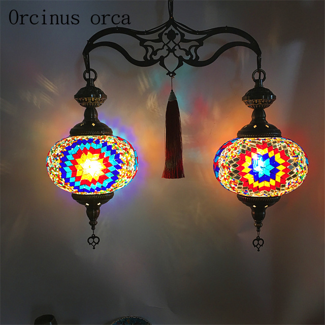 Us 156 0 Bohemia Ethnic Style Chandelier Restaurant Cafe Hotel Retro Exotic Southeast Asia Crystal Free Shipping In Pendant Lights From