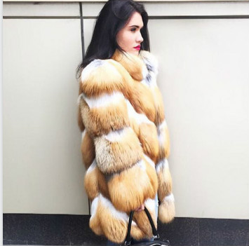 Collier Femmes Personnalisé De Arlenesain Avec Renard Importé Or Fourrure Manteau Réel Des Mandrain POxaqwZ