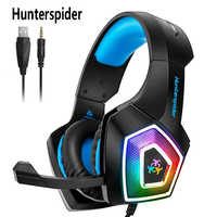 Hunterspider V1 Gaming Headset with Mic for Xbox PS4 PC Headphones Stereo Over Ear Bass 3.5mm Microphone Noise Canceling