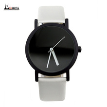 2017 Enmex creative design montre-bracelet blackand blanc hit couleur mode Modifiable nombre simple design de mode montres à quartz