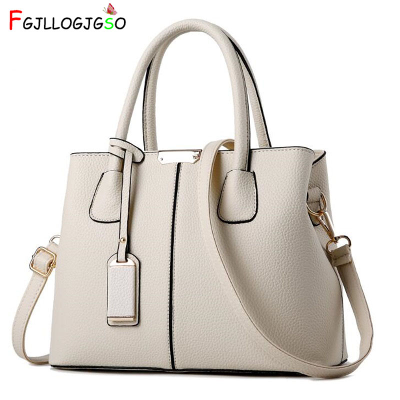 FGJLLOGJGSO female PU Leather Top-handle Women Handbag Solid Lady Lether Shoulder Bag Casual Large Capacity Tote Crossbody Bags