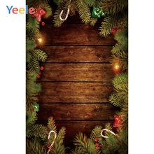 Yeele Wood Christmas Party Candy Star Decor Light Photography Backdrop Personalized Photographic Backgrounds For Photo Studio