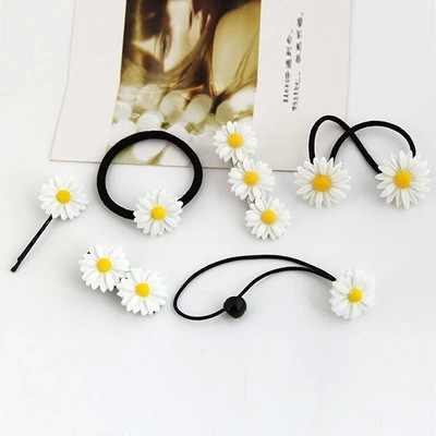 New Children's Cute Summer Daisy Hairpin Hair Ring Baby Rope Accessories Princess Hair Rope For Children Acessorio De Cabelo T