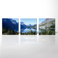 Modular Wall Paintings Pictures Modern Landscape Scenery HD Giclee Prints Painting Artwork Abstract Beautiful Lake Free Shipping