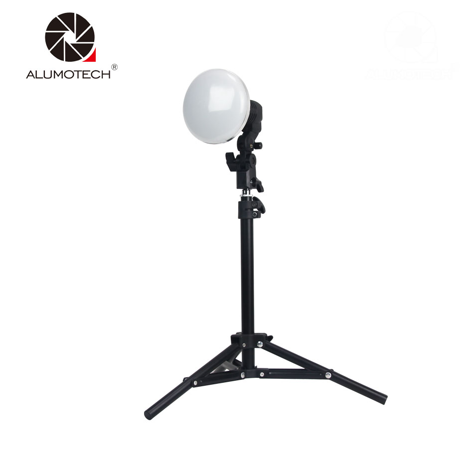 Alumotech Flicker-Free Studio Light LED Video E27 <font><b>EU</b></font>/US 60W 5500K 28 Beads For DSLR&amp; <font><b>Smartphone</b></font> Shooting