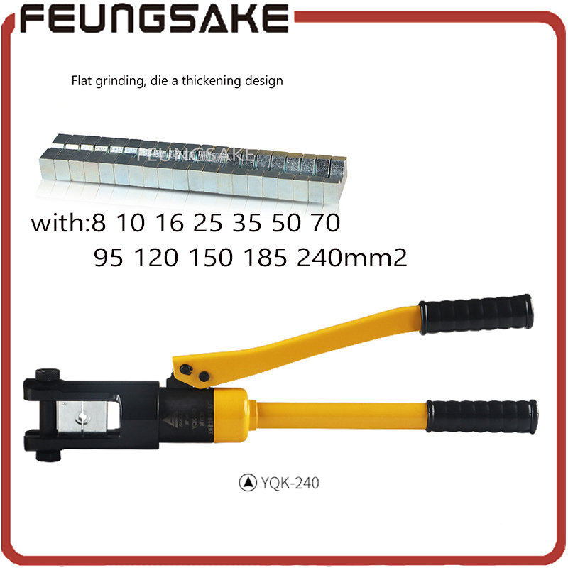 Hydraulic Crimping Tool Compression Plier Hydraulic Crimping plier YQK-240 RANGE 8-240mm2 Hydraulic Plier,ship via DHL стоимость