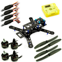 FPV 250 PRO carbon quadcopter with  2204 2300KV motors 12A esc CC3D controller combo kit BLUE