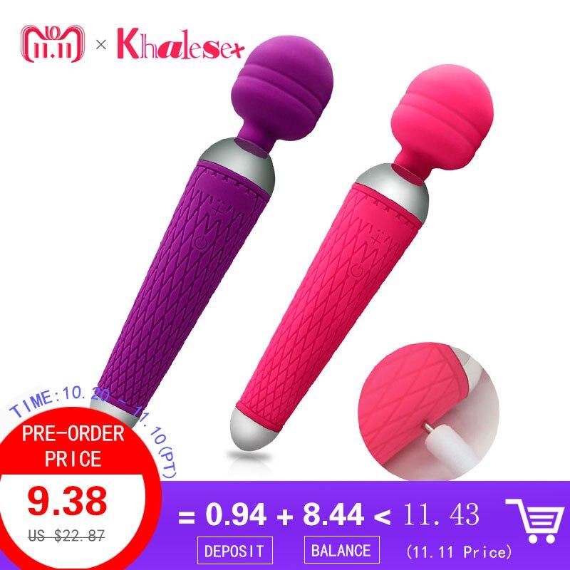 Super Poderosas oral clitóris Vibradores para Mulheres USB Recarregável AV Varinha Mágica Massageador Vibrador Brinquedos Adultos Do Sexo para a Mulher