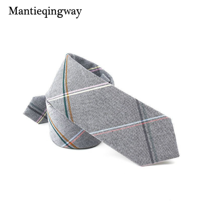 6cm England Style Plaid Tie Bow Ties For Men Women Wedding Neckwear Formal Wear Business Suit Cotton Skinny Tie