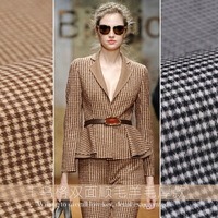 2018 Double Sided Houndstooth Cashmere Grid Fabric Winter Coat Woolen Fabrics 80 Merino 850gsm
