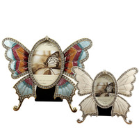 Europe Classic Metal Butterfly Photo Frames With Diamonds Table Picture Image Frame Home Display