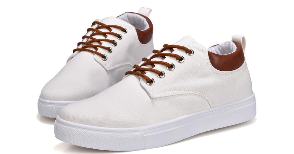 2018 Spring Summer Casual Shoes Mens Canvas Shoes For Men Lace-Up Brand Fashion Flat Shoes,big size 39-47