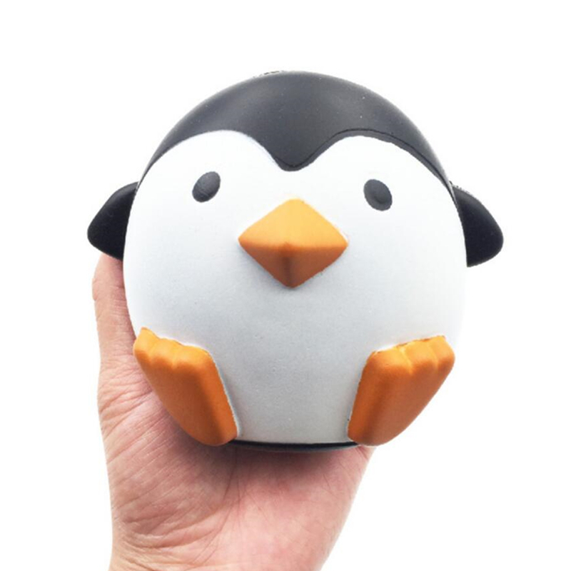PU 10cm Squishy Penguin Slow Rising Squash Toy Squishy Animal Model Anti-stress For Hands Adults Toys Ball Gadgets