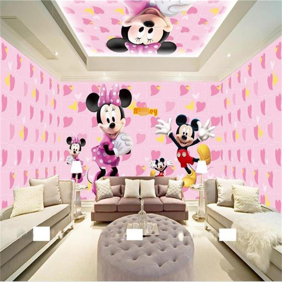online buy wholesale space themed wallpaper from china space 3d wallpaper custom hd photo mural kids room mickey cartoon theme space 3d painting tv sofa