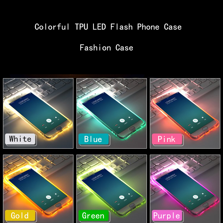 back Cover Capa For samsung galaxy S6 S7 edge S8 S9 plus Note 5 8 9 J3 J5 J7 A3 A5 A7 2016 2017 Coque TPU LED Flash Phone Cases