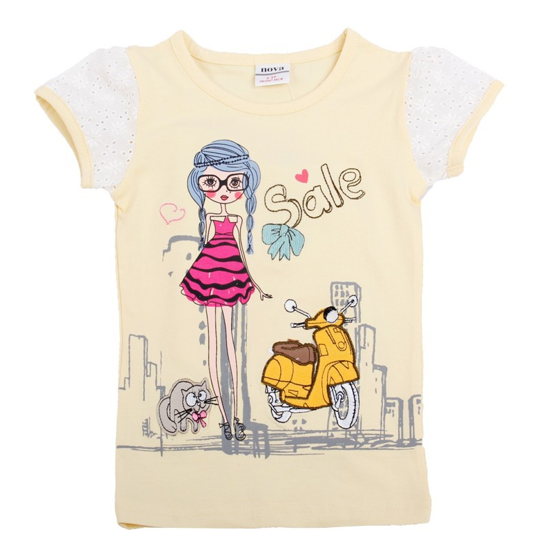 Apricot yellow pink t shirts for girls girl t shirt kids t for Yellow t shirt for kids