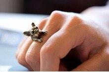 KUNIU Retial Animal French Bulldog Ring Unisex Animal Wrap Ring French Bulldog Ring Chic Punk Rings