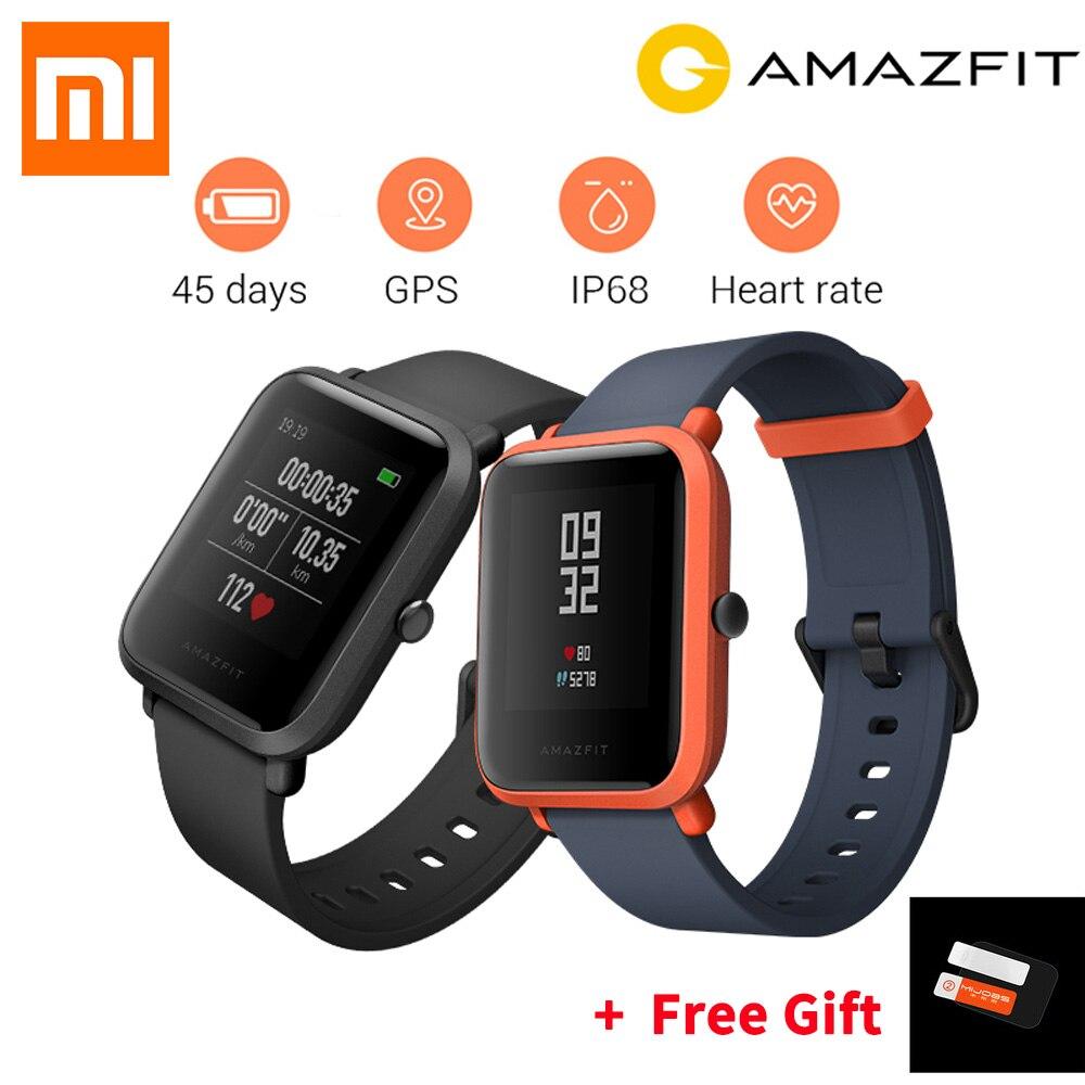 [Venta caliente] inglés versión Xiaomi Huami Amazfit BIP poco ritmo GPS IP68 impermeable jóvenes reloj inteligente 1,28