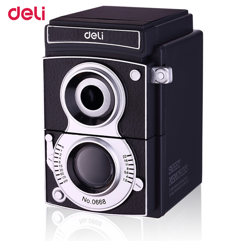 Free Shipping Pencil Sharpener Deli 0668 Light And Shadow Adjustable Thickness Hand Roll Pencil Sharpeners Office