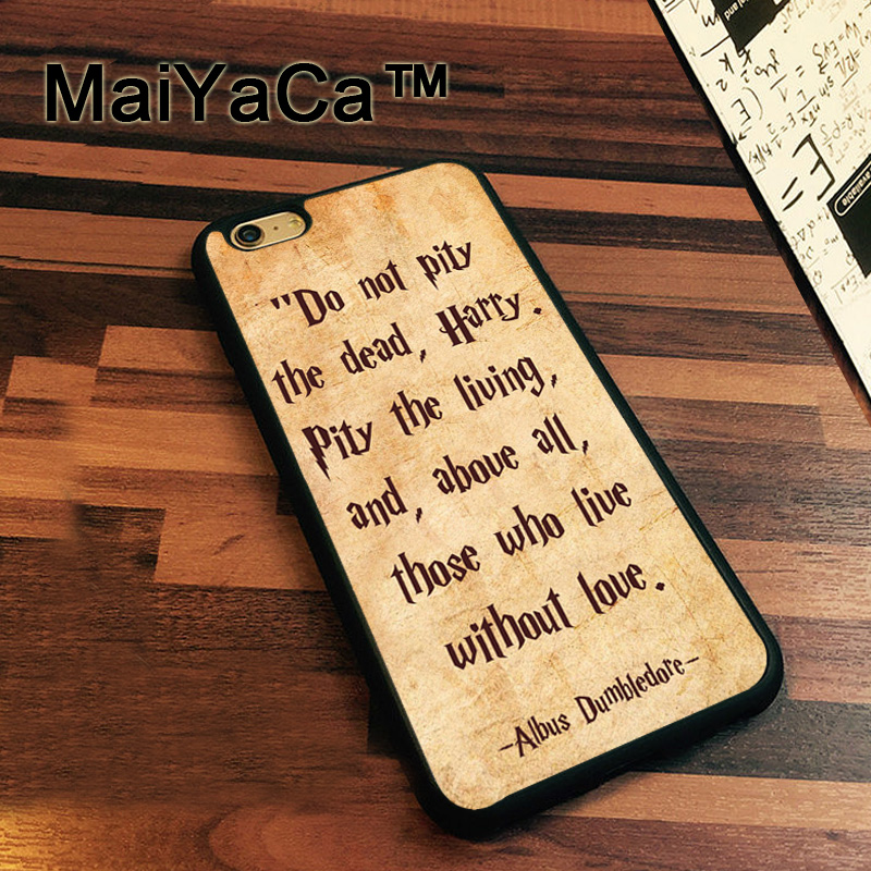 MaiYaCa Dumbledore Quotes Harry Potter Case For iPhone 7 Cases Slim Rubber Coque For iPhone7 Soft TPU Back Cover For iPhone 7