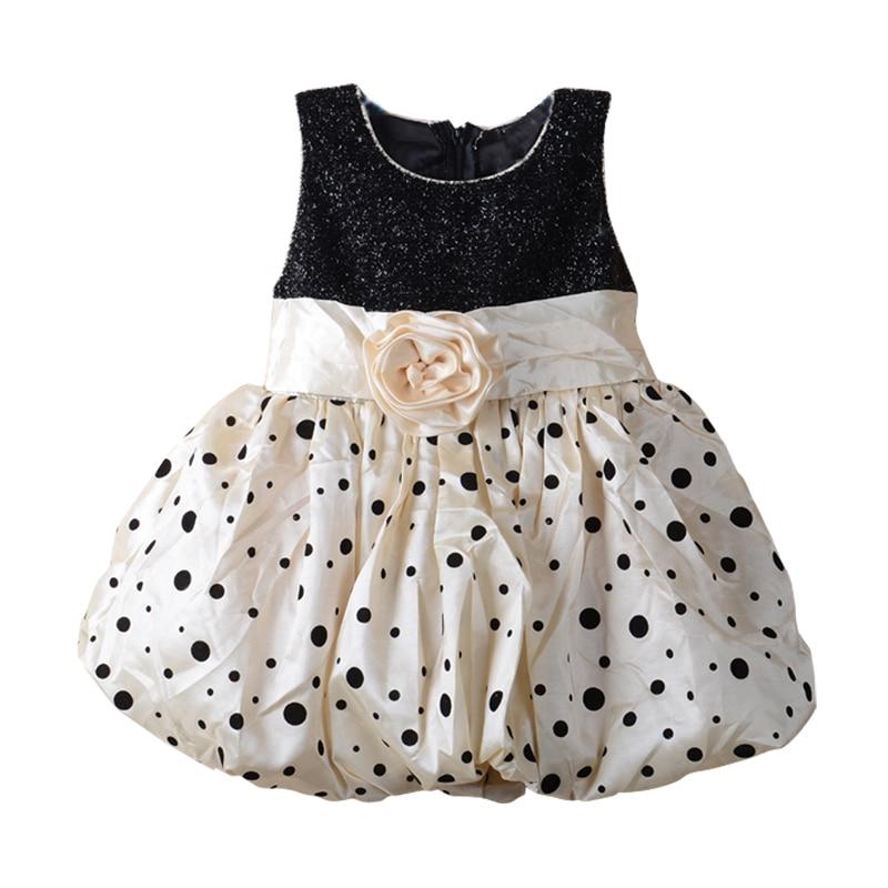 っDOTS flor patrón Niñas vestido niña princesa vestido ropa casual ...