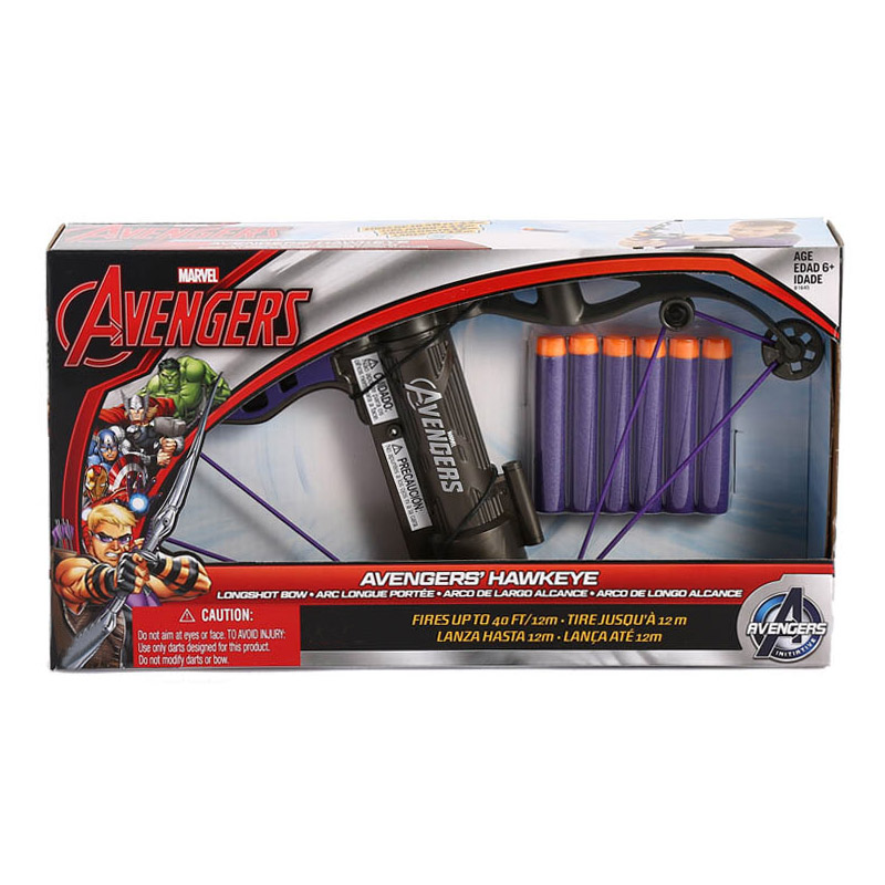 Image 5 - Marvel Avengers Hawkeye Longshot Bow Clinton Francis Barton Toy Gun Bullets Action Figure Birthday Gift Toy For Children Kid BoyAction & Toy Figures   -