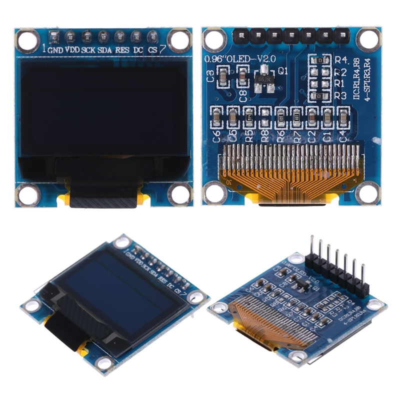 OOTDTY 0.98 OLED Module Blue Yellow Color 128X64 LCD Display SPI Module For Arduino