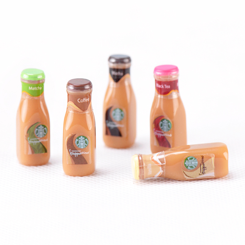 Modeling Clay 2pc/10pc Mini Drink Bottle Slime Supplies Diy Lizuny Small Resin Coffee Bottle Clear Slime Decoration Accessories Filler Gifts Toys & Hobbies