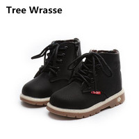 Tree Wrasse Children S Shoes Autumn 2017 Kids Fashion Martin Boots British Wind Single Boots For