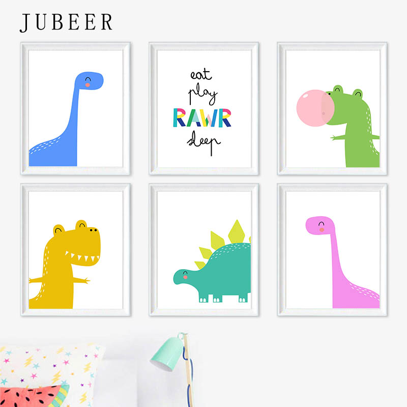 Nursery Wall Art Dinosaurs Print Baby Boy Art Dinosaur