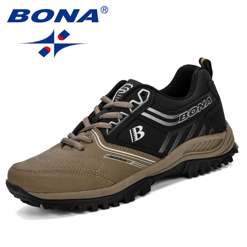 BONA Men Running Shoes Men Sport Shoes Athletic Jogging Shoes Male Trainers Shoes Comfortable Outdoor Sneakers Zapatos De Hombr цена