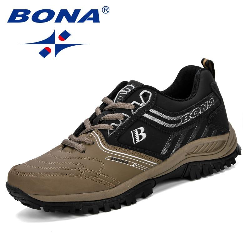 BONA Men Running Shoes Men Sport Shoes Athletic Jogging Shoes Male Trainers Shoes Comfortable Outdoor Sneakers Zapatos De Hombr