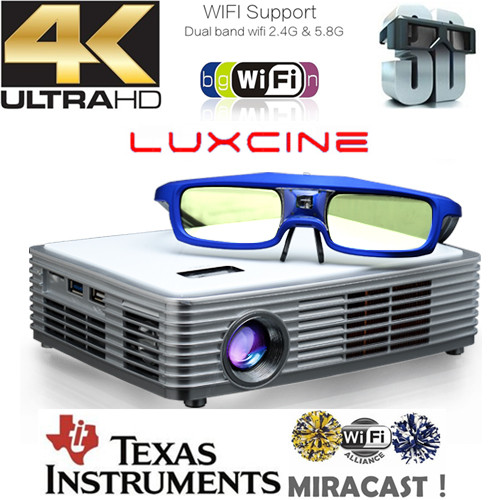 Best smart blu ray 3d wifi projector z4000 mini led home for Best mini wifi projector