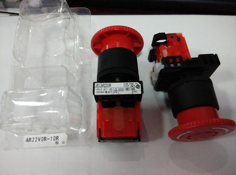 [ZOB] New original Fuji large mushroom button switch AR22V0R-10R  --5PCS/LOT