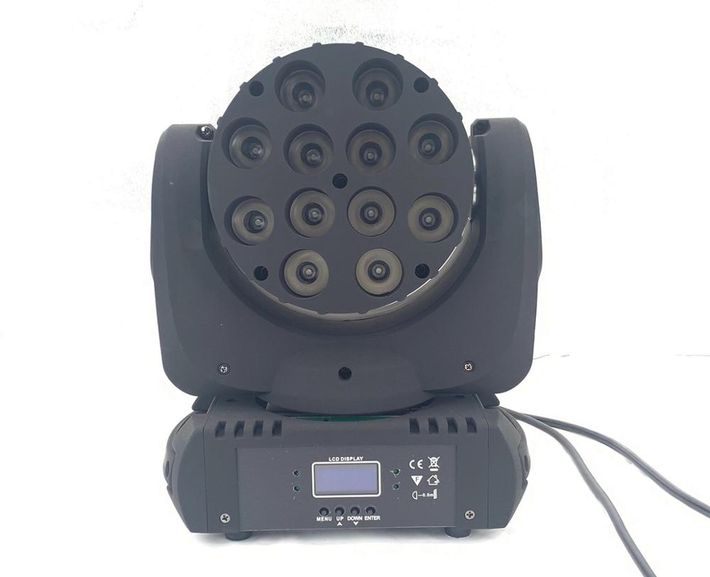 LED Beam Moving Head Light 12x12w Rgbw 4in1 Color With Advanced 9/16 Dmx Channels For Dj Disco Lights Led Wash Strobe Lights