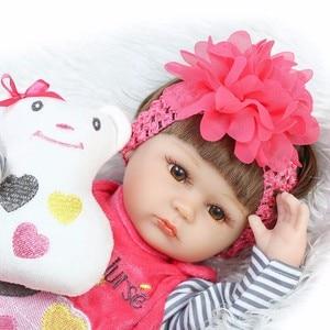 Image 3 - NPK reborn doll, 43 см, мягкий силикон, reborn baby dolls com corpo de silicone, подарки на Рождество