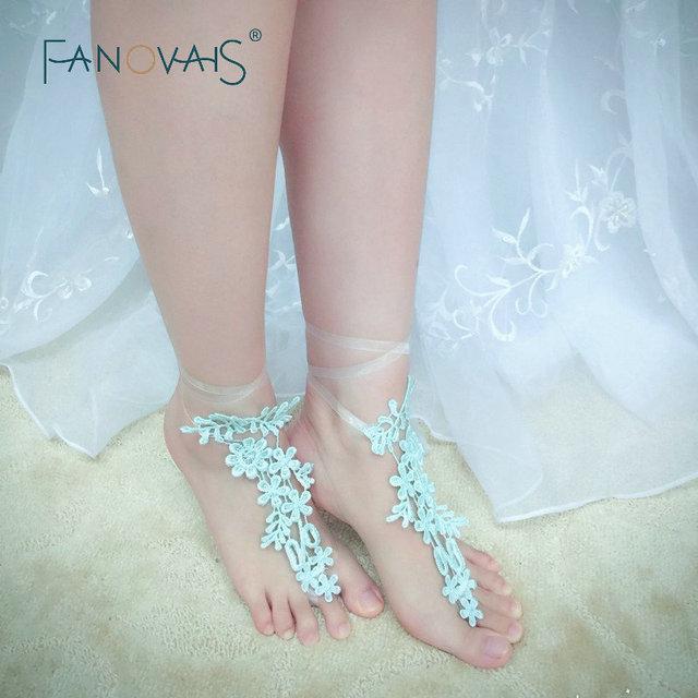 real pictures moda encaje pulsera para vestidos de novia calzado