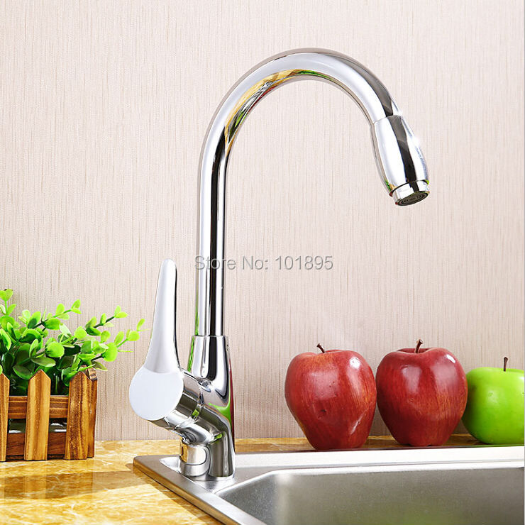 Luxury Brass Material Chrome Finishing Deck Mounted Kitchen Mixer 20PCS in Lot L16763