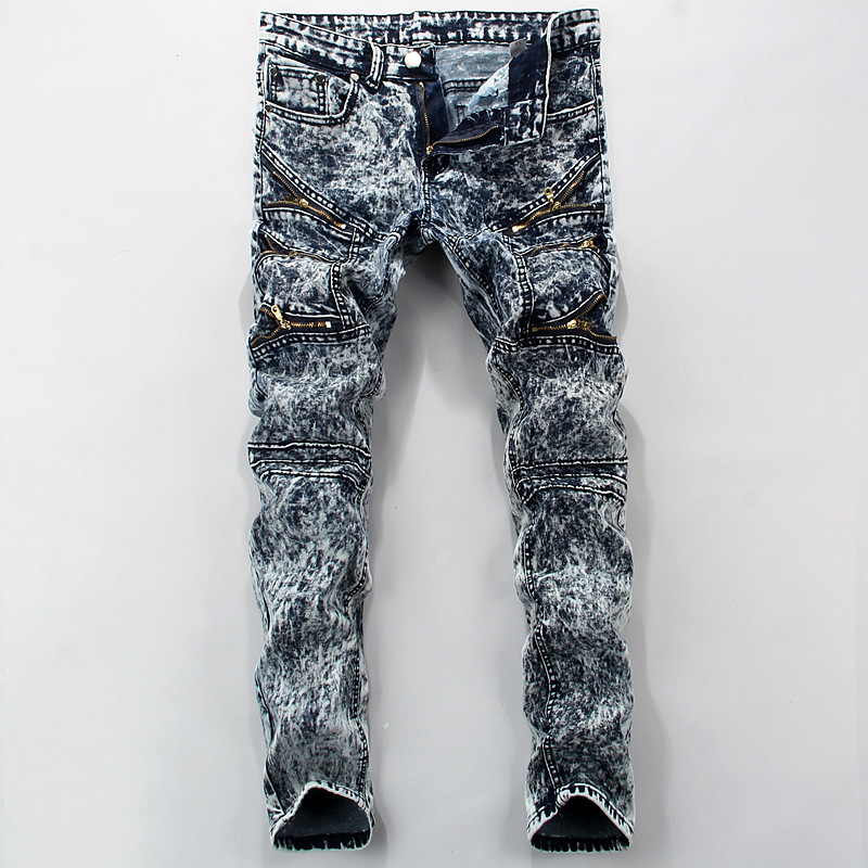 High Quality Mens Slim straight mens trousers Jeans Joggers Hip Hop Swag Clothing Streetwears Jeans Men pants J007