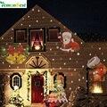 12 padrões do floco de neve do natal do laser projector ao ar livre led à prova d' água discoteca luzes início jardim luz da estrela decoração de interiores