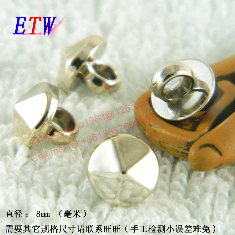 Free shipping Shiny Imitation Hawksbill <font><b>Buttons</b></font> 200pcs/lot gold <font><b>8mm</b></font> <font><b>Button</b></font> Fashion DIY Decration for Shirt knitwear Dolls image