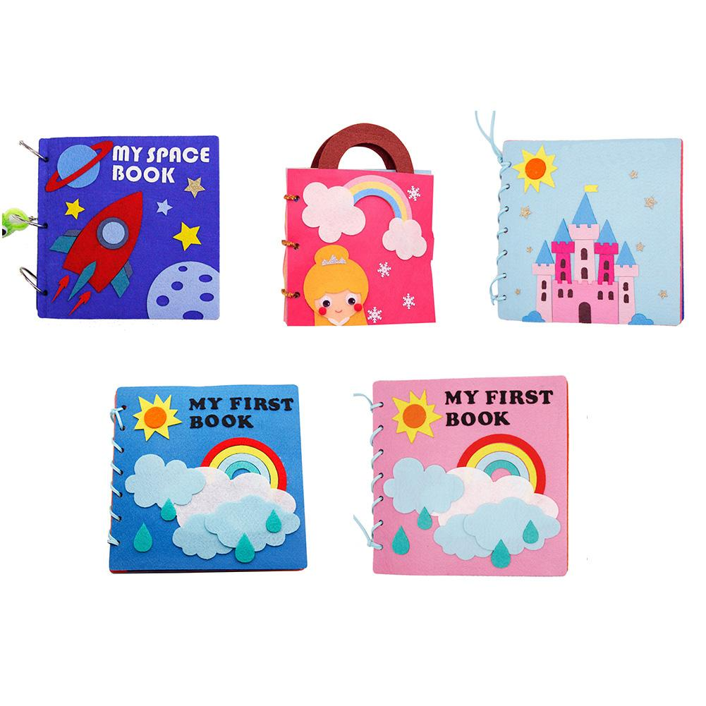 5 Styles DIY My First Cloth Book Infant Baby Felt Quiet Cloth Books Early Learning Educational Felt Material Development Book