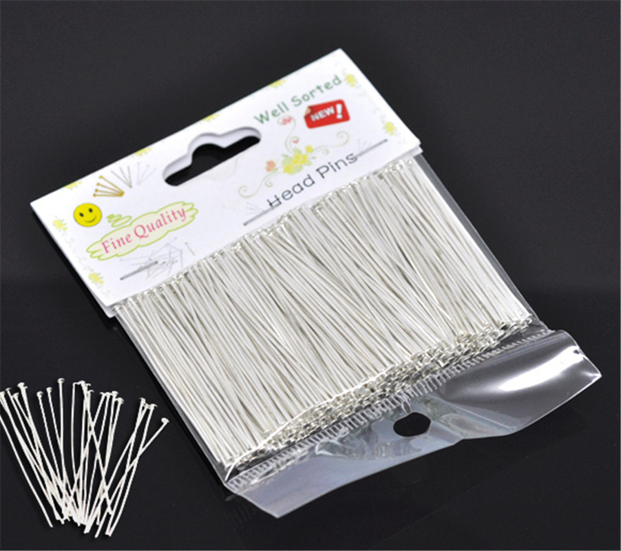 DoreenBeads (300PCs) Well Sorted Head Pins Hot Sale Accessories DIY Jewelry Making 4cm(1-5/8