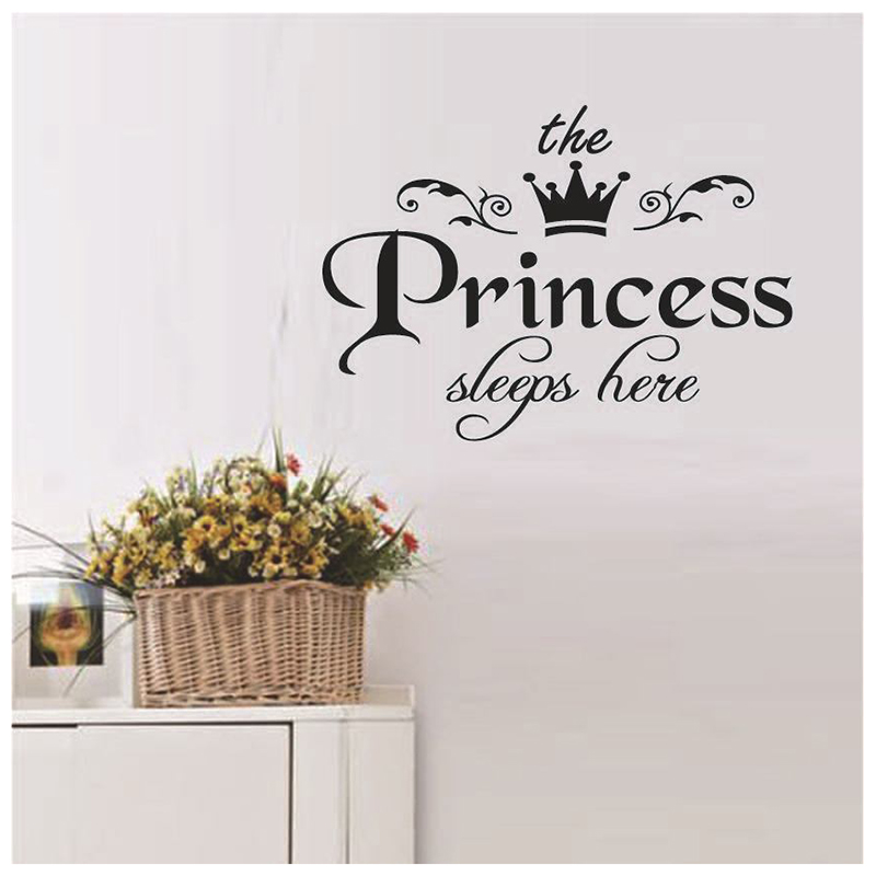 removable princess sleeps wall stickers pvc decals